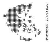 greece map silhouette from... | Shutterstock .eps vector #2047151627