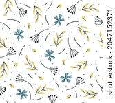 seamless pattern with cute...   Shutterstock .eps vector #2047152371