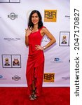 """Small photo of Natalia Bilbao attends Suzanne DeLaurentiis Productions Hosts """"Celebrate, Honor, Remember"""" Luncheon at Luxe Hotel, Los Angeles, CA on September 24, 2021"""