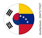 round icon with south korea and ... | Shutterstock .eps vector #2047177037