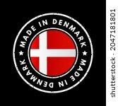 made in denmark text emblem... | Shutterstock .eps vector #2047181801