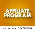 affiliate program text quote ... | Shutterstock .eps vector #2047181804