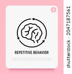 repetitive behavior  human... | Shutterstock .eps vector #2047187561