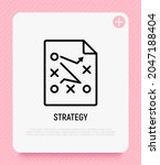 tactical planning icon for... | Shutterstock .eps vector #2047188404