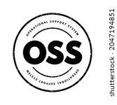 oss   operational support... | Shutterstock .eps vector #2047194851