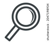 magnifying glass icon  symbol.... | Shutterstock .eps vector #2047198934
