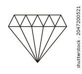 diamond outlined black and... | Shutterstock .eps vector #2047200521