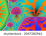 Color Fractal Pattern 2d...