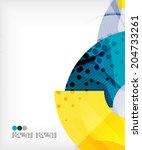 modern futuristic techno... | Shutterstock .eps vector #204733261