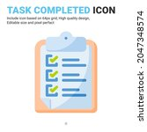 task are completed icon design...