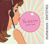 vector illustration background... | Shutterstock .eps vector #204737401