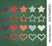 set heart and star icon design  ...