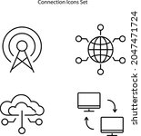 connection icons set isolated...