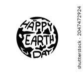 happy earth day design vector...   Shutterstock .eps vector #2047472924