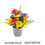 flower bouquet isolated on white | Shutterstock . vector #204748549