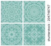 set of squared backgrounds  ... | Shutterstock .eps vector #204748747