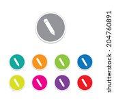 vector   pencil icon. round... | Shutterstock .eps vector #204760891