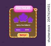 game ui window you failed...