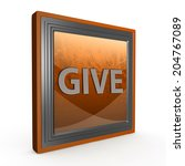 give square icon on white... | Shutterstock . vector #204767089