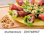 appetizer with rosettes of... | Shutterstock . vector #204768967