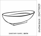 bath | Shutterstock .eps vector #204770029
