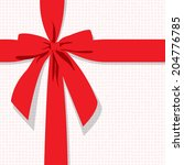 red gift bow vector background | Shutterstock .eps vector #204776785