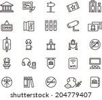 museum icons | Shutterstock .eps vector #204779407