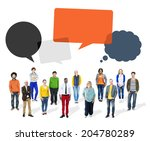 group of multiethnic diverse... | Shutterstock . vector #204780289