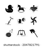 Icon Set Of Yoyo  Hand Mill ...