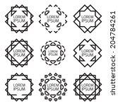 minimal monochrome geometric... | Shutterstock .eps vector #204784261