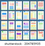 vector collection of flat...