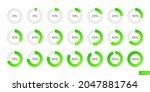 green gradient set of...