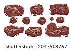 dinosaur fossil. cartoon... | Shutterstock .eps vector #2047908767