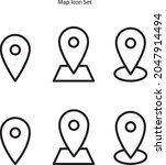 map location icons set isolated ...