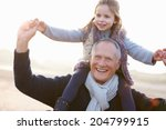 grandfather and granddaughter... | Shutterstock . vector #204799915