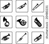 musical instruments black and... | Shutterstock . vector #20480231