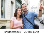 view of a young couple on...   Shutterstock . vector #204811645