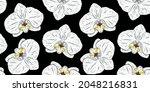 orchid flower sketch....   Shutterstock .eps vector #2048216831