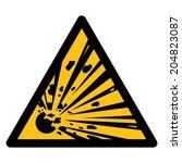 warning sign  beware explosive... | Shutterstock .eps vector #204823087