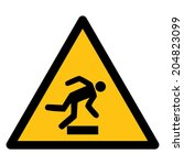 warning sign risk of stumbling | Shutterstock .eps vector #204823099