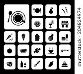 food and drink vector icon set  | Shutterstock .eps vector #204824974