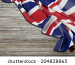 england flag with horizontal... | Shutterstock . vector #204828865
