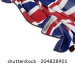 England Flag With White