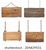 collection of various empty... | Shutterstock . vector #204829531