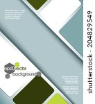 eps10 vector spacious abstract... | Shutterstock .eps vector #204829549