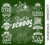 back to school calligraphic... | Shutterstock .eps vector #204832477