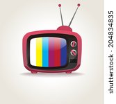 retro tv set icon | Shutterstock .eps vector #204834835