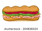 a colorful cartoon sub sandwich ... | Shutterstock .eps vector #204838324