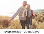 senior couple walking through... | Shutterstock . vector #204839299