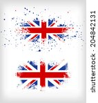 grunge british ink splattered... | Shutterstock .eps vector #204842131